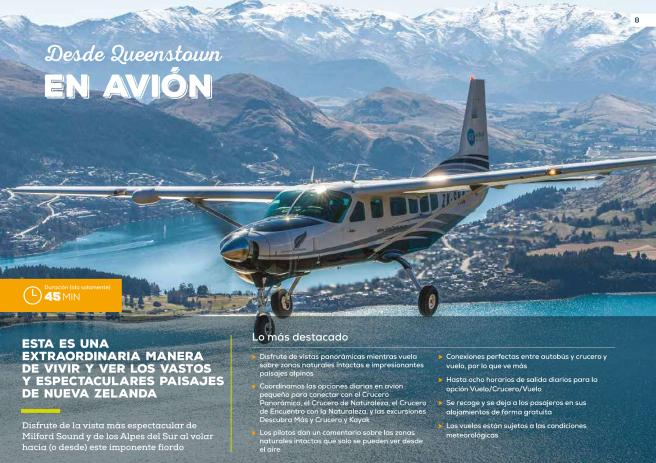 Desde Queenstown en avion